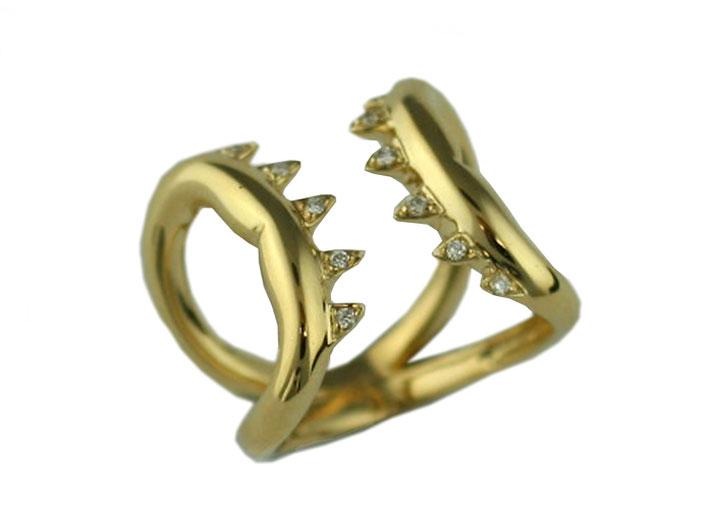 Anello in oro della collezione Jules Verne