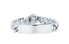 Bracciale Tiffany ID in argento con barretta da personalizzare. Prezzo: 640 euro