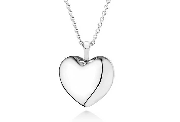Collana Pandora con pendente a forma di cuore apribile in argento Sterling con zirconia cubica.  Prezzo: 149 euro