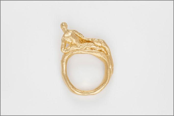 Anello in argento placcato oro