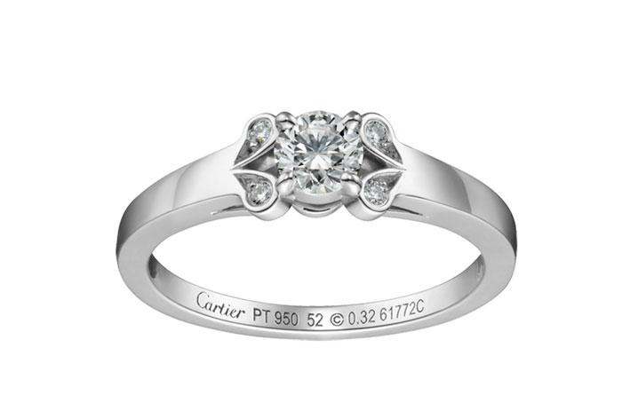 Il modello Ballerine di Cartier. Platino e diamanti da 0,23 a 0,49 carati. Prezzo non determinato