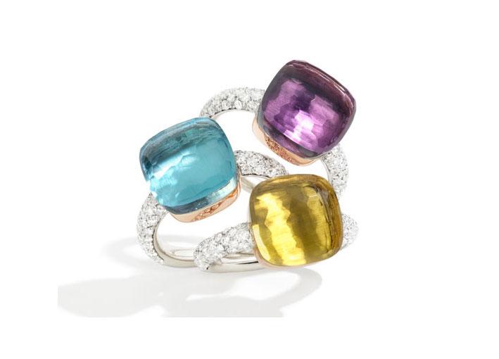 Anelli Nudo di Pomellato con diamanti