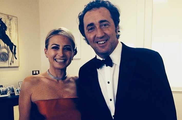 Silvia Damiani con Paolo Sorrentino