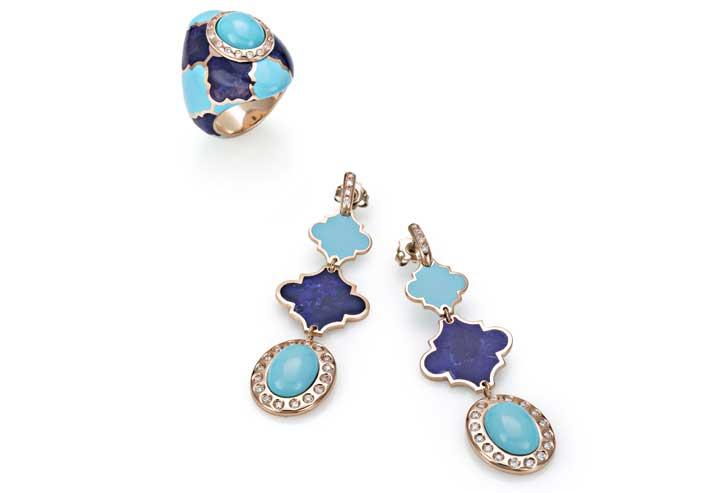 Anello e orecchini della collezione Boboli