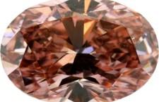 Un grande diamante ovale rosa. Da notare le inclusioni