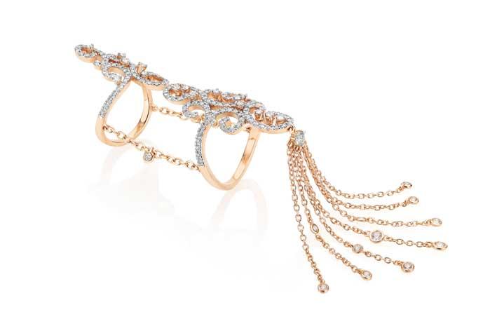 Daphne Demoiselle: anello in oro rosa 18 K con diamanti bianchi