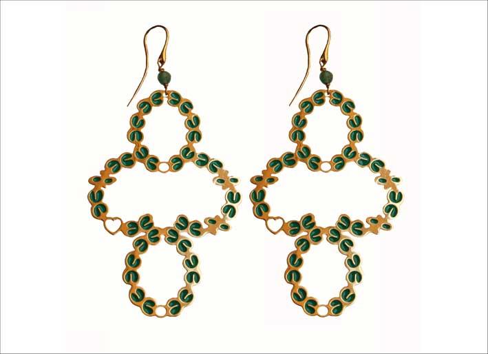 Milla Verde, orecchini con smalto della collezione Frida Kahlo. Prezzo: 220 euro