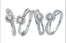 Anelli Tradition, in oro bianco e diamanti