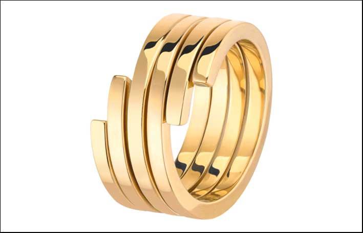 Anello della collezione Spirale in oro giallo