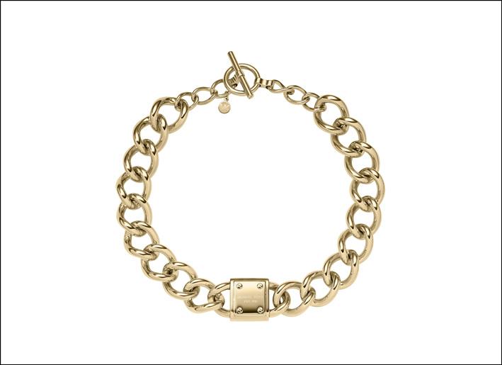 Bracciale Michael Kors con catena e lucchetto, collezione Heritage