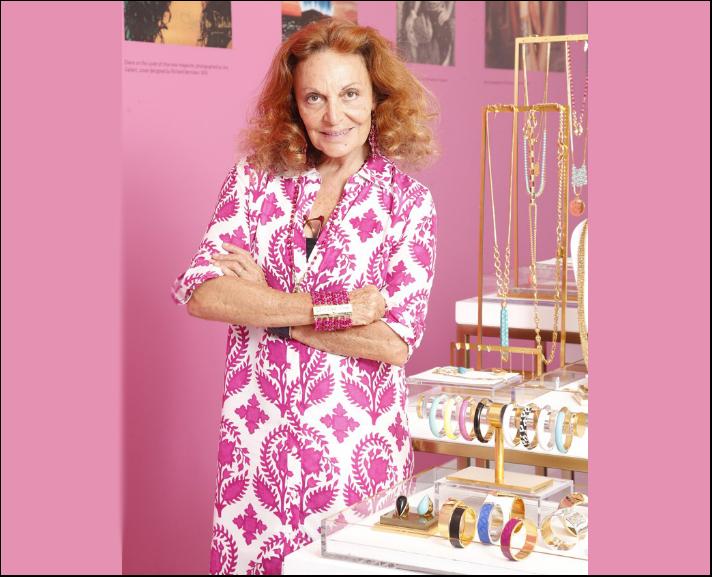 Diane von Furstenberg, con la la collezione di bioux