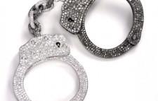 Manette con diamanti bianchi e neri by De Grisogono