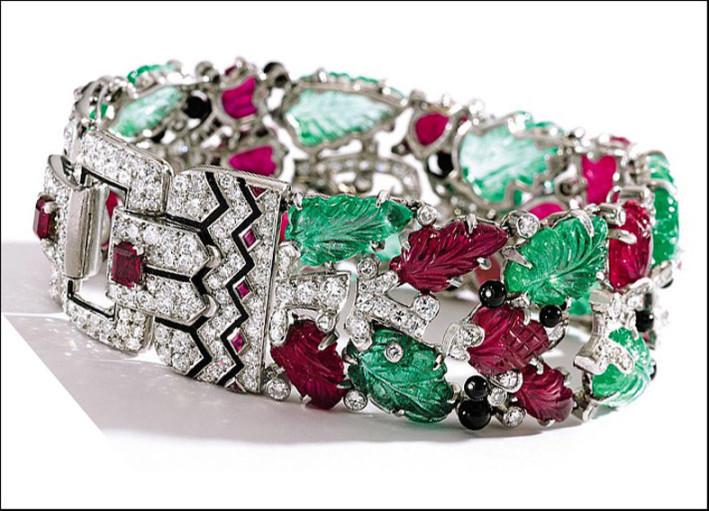 Bracciale Tutti Frutti di Cartier. Stima: 600 - 780 mila euro