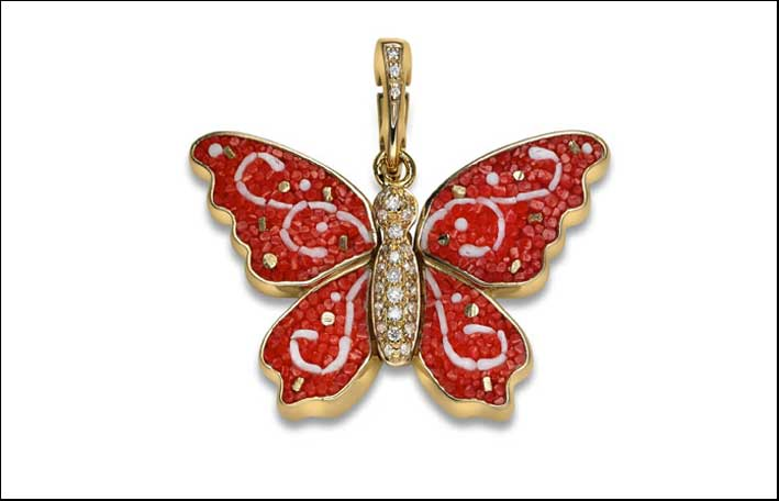 Butterfly Collection, versione con piccoli diamanti e oro