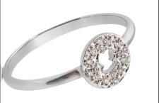 Collezione Confeti di Tous: anello in oro bianco con diamanti taglio brillante