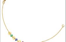 Collezione Confeti di Tous: braccialetto in oro giallo con crisoprasio, tanzanite e rubino