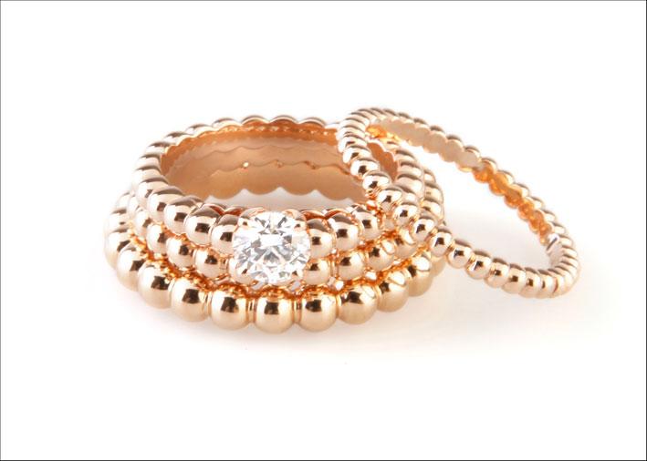 Perlée Solitaire anello