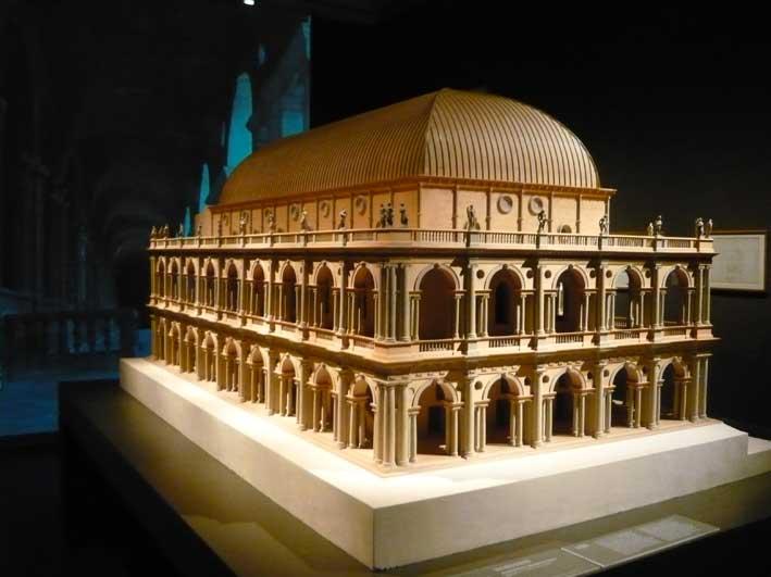 Un plastico della Basilica Palladiana a Vicenza