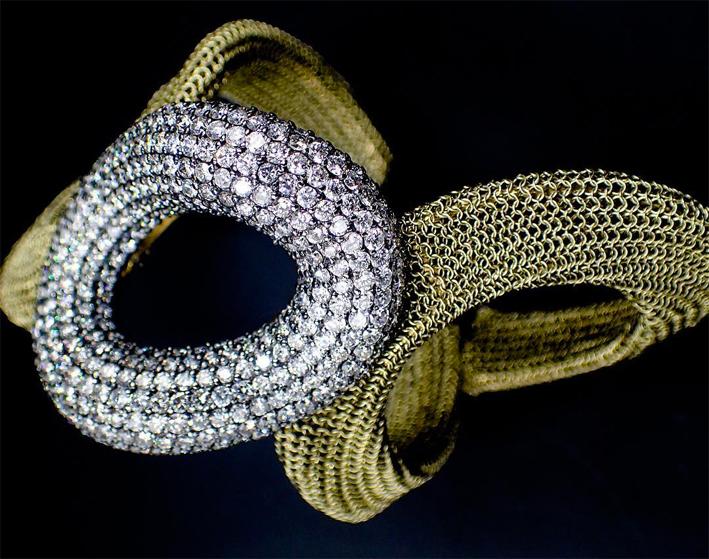 Bracciale con oro e diamanti