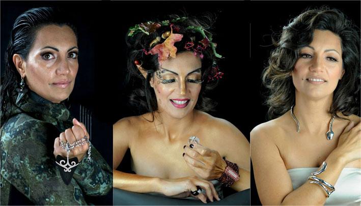 Chiara Passoni Gonzales con i suoi gioielli