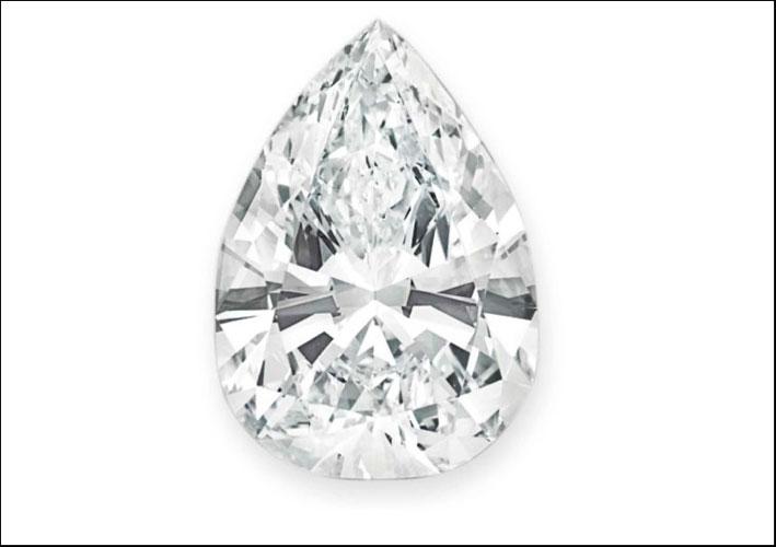 Il diamante con taglio a pera venduto per 11 milioni di dollari