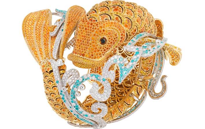 Van Cleef & Arpels, il bracciale-orologio Carpes Koï