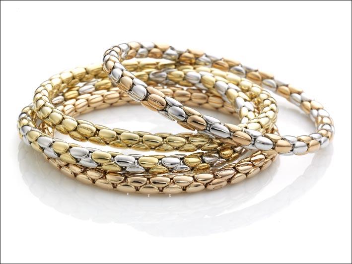 Chimento, collezione Stretch nei tre colori dell'oro