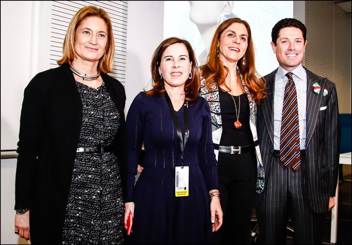 Da sinistra Alba Cappellieri, Pilar Coin,Licia Mattioli, Matteo Marzotto