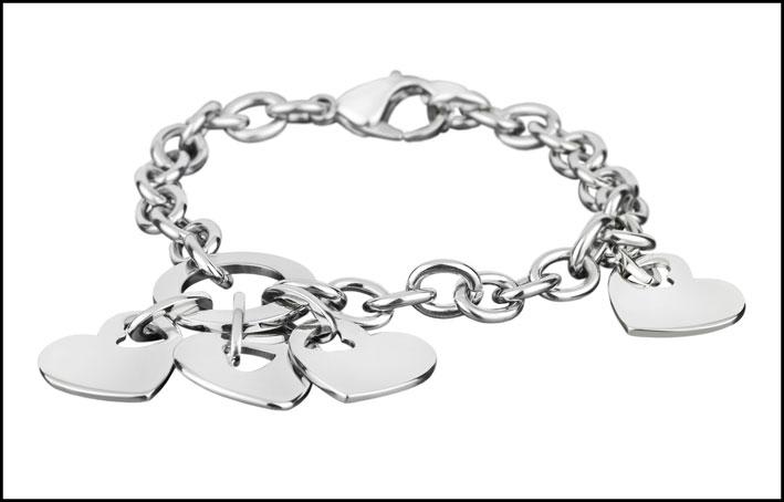 Bracciale Lotus Style in acciaio. Prezzo: 29 euro