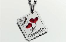 Chantecler, ciondolo Love Letters in argento e smalto rosso