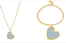 Collana e bracciale Bling Bling Denim Collection. Prezzo: 24,90 e 19,90 euro