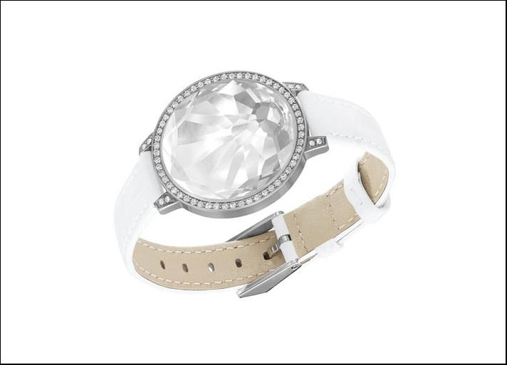 Swarovski, cinturino tech con cristallo Shine