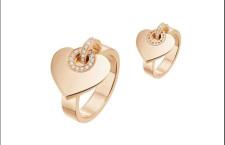 Bvlgari Bvlgari -Cuore, anello in oro rosa con diamanti. Prezzo: 3050 dollari