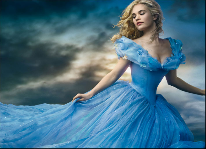 Cenerentola, interpretata da Lily James