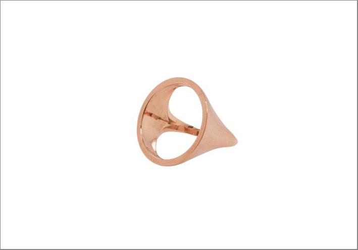 Anello in oro rosa 14 carati