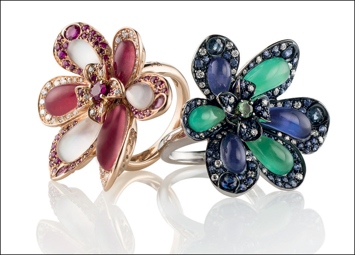 Anelli della collezione Anastasia di Moraglione