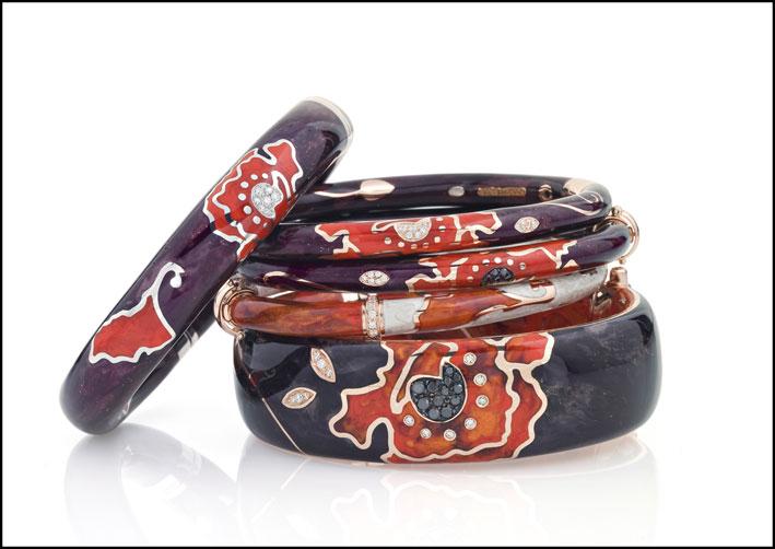 I bracciali della collezione Papaveri di Nouvelle Bague