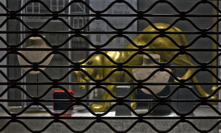 La pantera di Cartier nella vetrina di Place Vendome