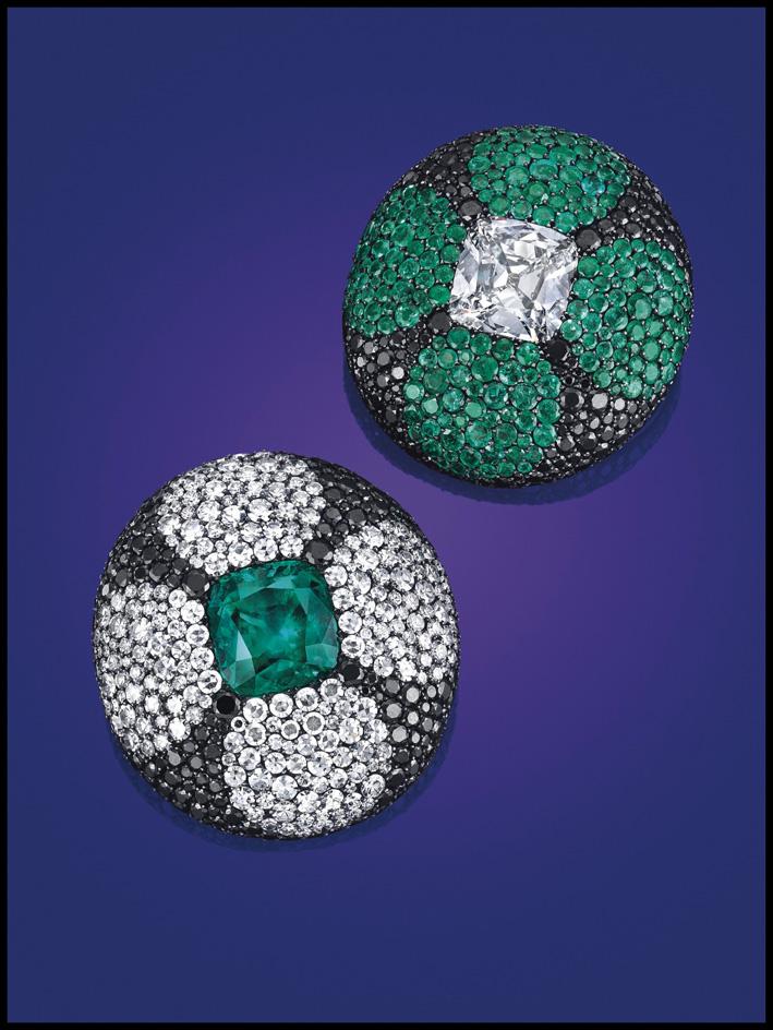 Orecchini di Jar, smeraldi e diamanti: 845mila dollari