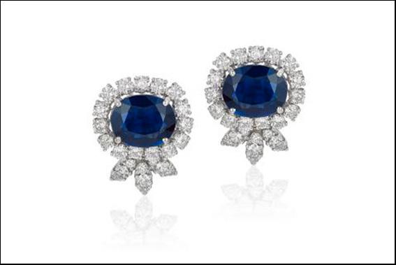 Andreoli, orecchini con zaffiri e diamanti