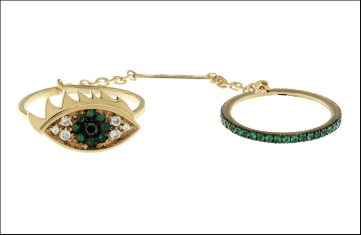 Anello Two in one eye ring. Prezzo: 2.500 euro