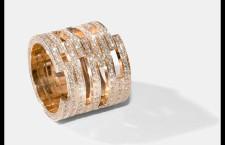 Collezione II, anello in oro rosa e full pavé di diamanti. Prezzo: 14 mila euro
