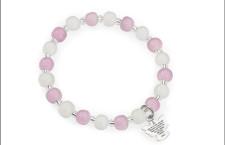 Bracciale con perle di Murano e pendente in argento. Prezzo: 29 euro