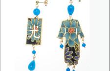 Kimono Silk & Silver, orecchini con pietra azzurra. Prezzi: grande 150 euro; piccolo 130