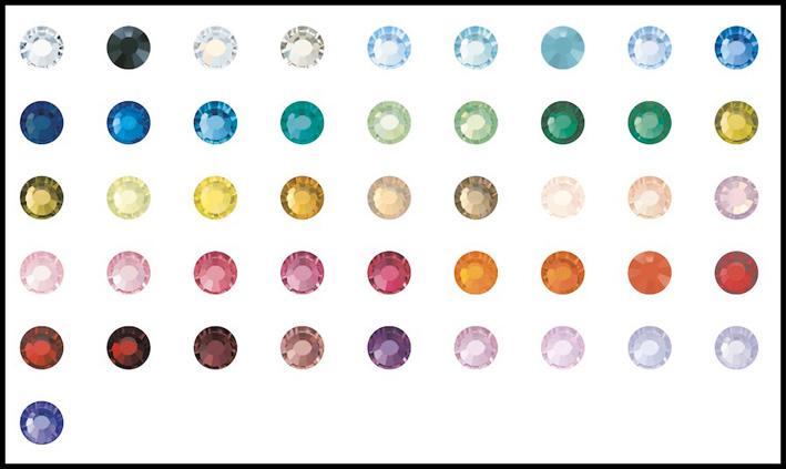 La gamma di colori dei nuovi cristalli di Preciosa