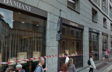 La boutique Damiani in via Monte Napoleone