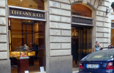 La boutique Tiffany di via Cola di Rienzo, a Roma