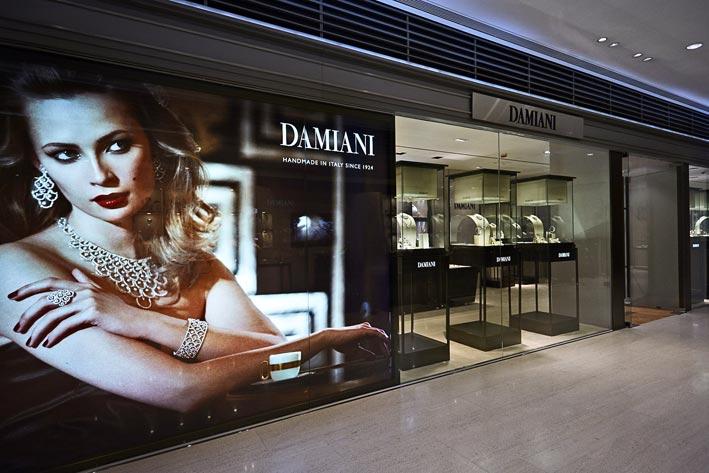 La boutique Damiani a Hong Kong