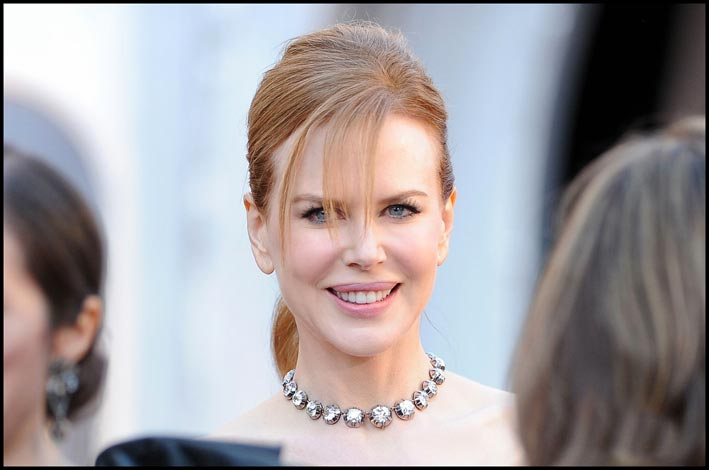 Nicole Kidman con una collana rivière in un'immagine di qualche anno fa