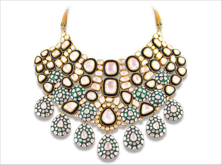 Collana con diamanti polki